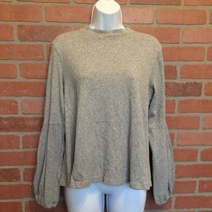 Free People Small cotton top flare gray (3H45)